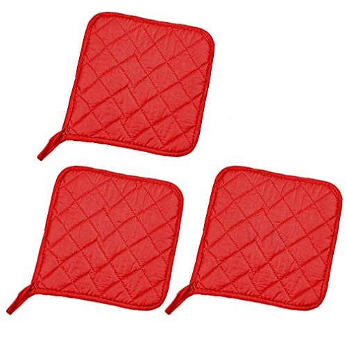 - Vila 3-pcs Potholder with Pocket - Protects Your Hands from Kitchen Burns - Little Storage Space to Keep Things - Heat-Resistant Thick Lining - Durable and Easy to Store with Hanging Loop