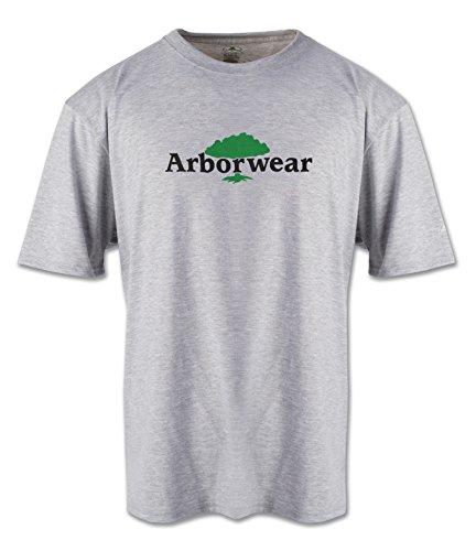 Arborwear 706579 Men's Ovalless Logo Tech T-Shirt, Athletic Grey - Medium ()