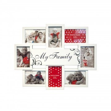 Kole Imports OL542 N/A My Family White Collage Photo Frame