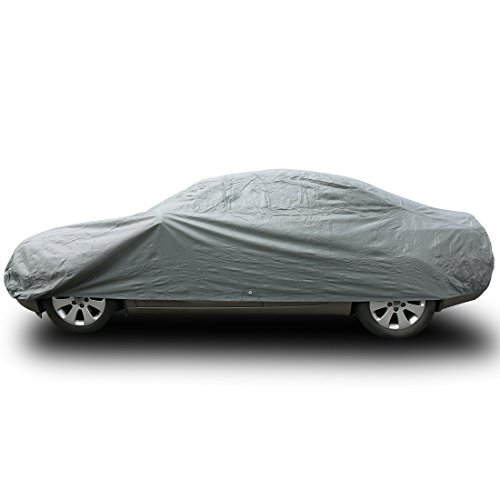 "Copap Car Covers 3 Layers Full Cover Non-Woven Fabric Universal Car Cover UV&Dust Proof Designed for All Protection(Cars up to 160"")"