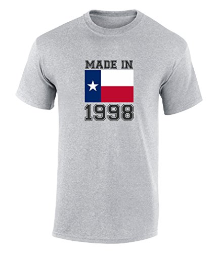 Happy 19th Birthday Gift T-Shirt With Made In Texas 1998 Graphic Print Sport Grey Extra - Southlake Shops At The