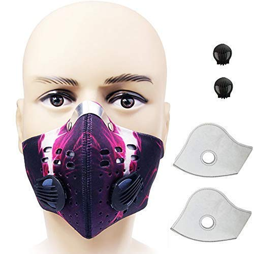 Cycling Sports Running Mask Outdoor Activated Carbon N99 Filter Dust Anti Pollution Anti Pollen Allergy Filtration Exhaust Gas Mouse-Muffle Ski Training Facemask Bike Half Face Fitness Bicycle
