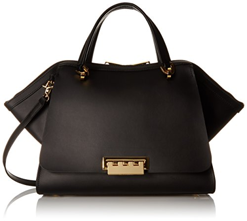 ZAC Zac Posen Zp1515-001 Top Handle Bag, Black, One - Satchel Zac Leather Posen