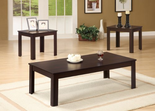 Talon End (Inland Empire Furniture Talon Dark Walnut Solid Wood 3 Piece Coffee and End Table Set)