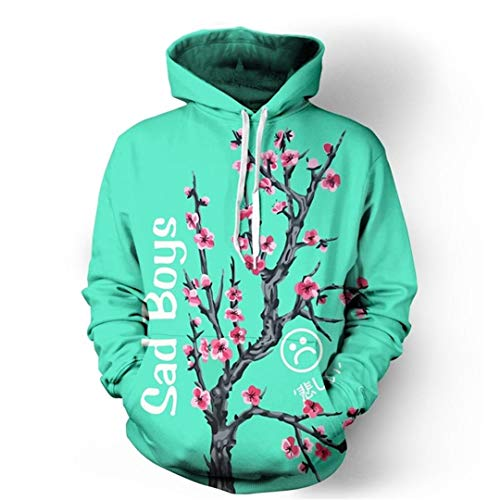 (Sad Boy Iced Tea Tree 3D Hoodies Autumn Winter Clothing Pullovers Sweatshirts Hoodies Men)
