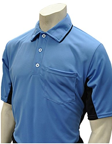 Smitty Major League Style Umpire Shirt - Performance Mesh Fabric (Blue, Large) ()