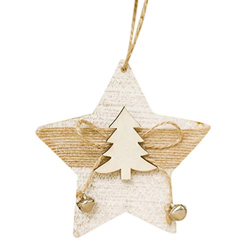 Dolloress Home & Kitchen ⭐2 PCS Approx.10X18CM Wood Embellishments Rustic Christmas Tree Hanging Ornament Decor Ideal for Hangers, Tags, Card Making, Embellishments, Decoupage, Sign Making, Plaques