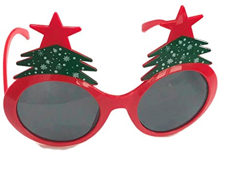 Christmas Fancy Dress Funny Glasses Santa Claus Hat Reindeer Sunglasses Christmas Costume Ornaments Party Decoration Gifts Glasses (Christmas Tree) (Mean Girls Christmas Dance Costume)