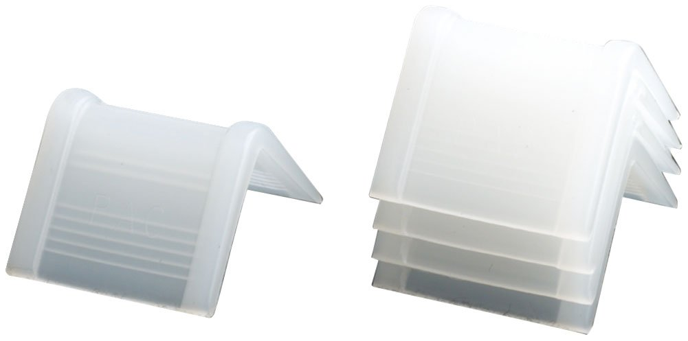PAC Strapping CP-75A Plastic Edge Protector, 1'' Length, 1-3/8'' Width, White (Pack of 1000)