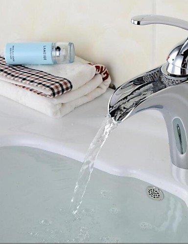 Zeitgenössische verchromt Einhand-Loch WasserfaÖl Waschbecken Wasserhahn