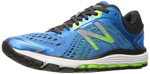 New Balance Men's 1260V7 Running Shoe, Bolt Blue/Energy Lime, 10.5 2E US