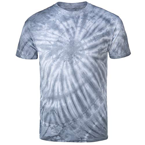 Magic River Handcrafted Tie Dye T Shirts - Silver Cyclone - Adult XX-Large ()