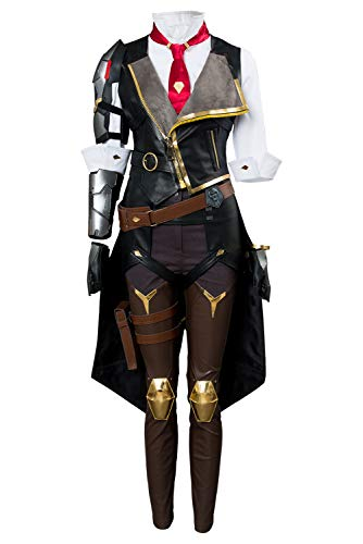 COSMOVIE Women's OW Halloween Cosplay Costumes Ashe Sets Party Dress Up Outfit ()