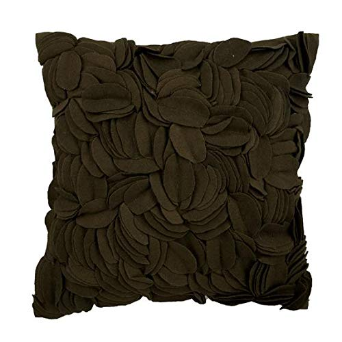"""Earth Green Throw Pillows Cover, Felt Origami Flower Applique Pillows Cover, 18""""x18"""" Throw Pillow Covers, Square Felt Throw Pillows Cover, Geometric Modern Pillows Cover - Earthy Green Incognito"""
