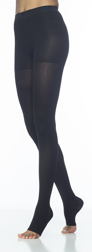 Sigvaris Access 973PMLO99 30-40 mmHg Unisex Open Toe Pantyhose, Black, Medium-Long by Sigvaris B009430XR4