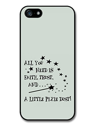 Peter Pan Tinker Bell Pixie Dust Animation Movie Quote coque pour iPhone 5 5S