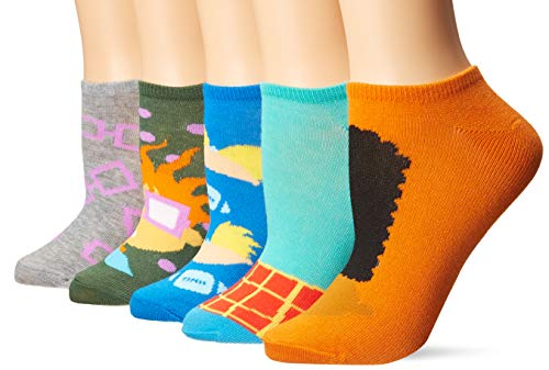 Nickelodeon Classics Women's 5 Pack No Show Socks
