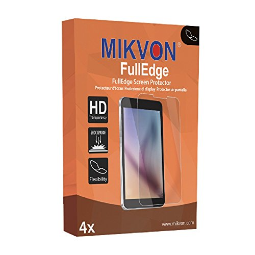 4 x Mikvon FullEdge screen protector for Olympus D-755 foil (screen protector with full protection and custom fit for the curved display)