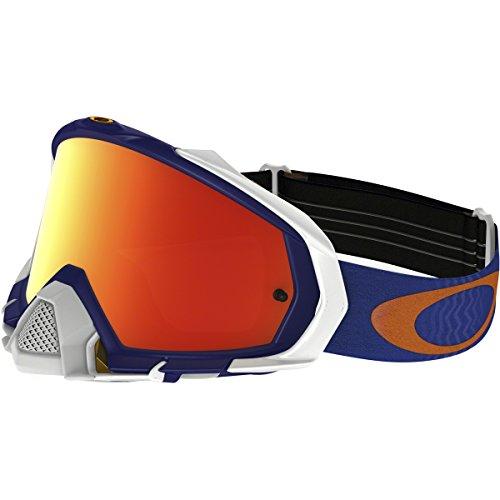 Oakley Mayhem Pro MX Shockwave Men's Dirt Motocross Motorcycle Goggles Eyewear - Blue Orange/Fire Iridium / One Size Fits All (Pro Model Goggle)