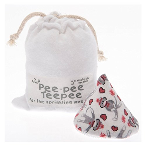 Pee-pee Teepee Sock Monkey White - Laundry Bag ()