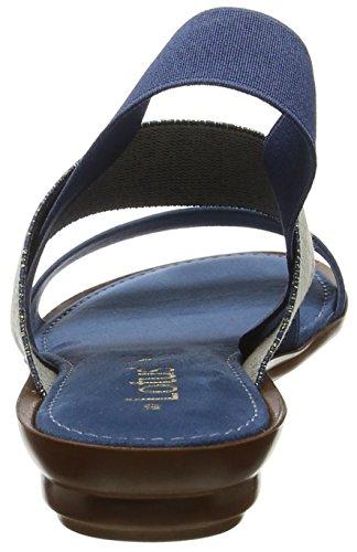 Punta Abierta Jeans con Mujer Visco para Blue Sandalias Lotus Azul 8ITntwqEx