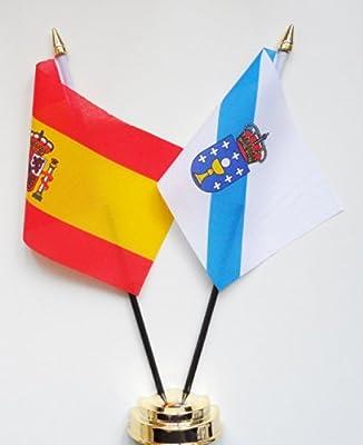 España y Galicia de la bandera de mesa bolas de cristal pantalla ...