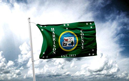 Harrison County Ohio Garage Hangar Basement Flag 3x5 (Harrison Grommet)