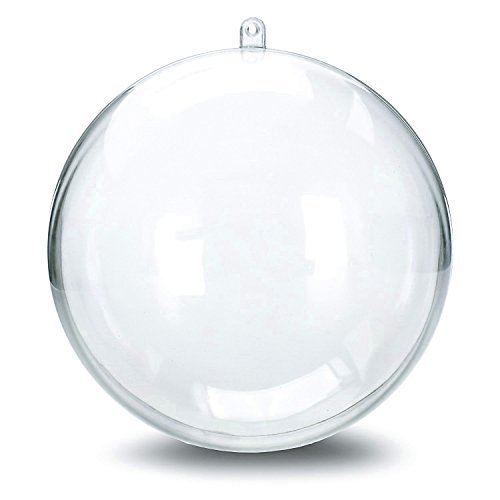 12 Clear Plastic Ball Fillable Ornament Favor 4