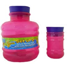 Electronic Coin Counting Money Bank - Set of 2 PINK Plastic Jugs