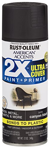 (Rust-Oleum 327916-6 PK American Accents Spray Paint, Satin Canyon Black)