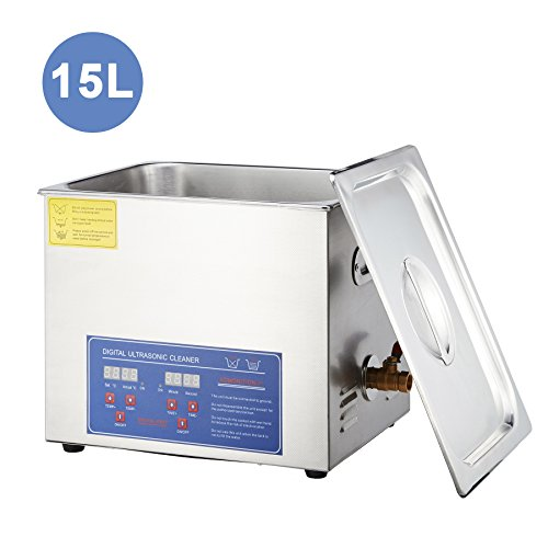 15l Manual - Tek Motion Stainless Steel Ultrasonic Jewelry Cleaner with Heater Timer, 15L