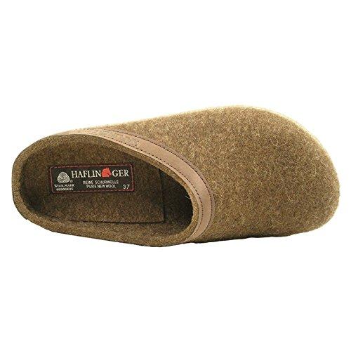 Haflinger Womens Grizzly Torben Wool Felt Sandals Cocoa