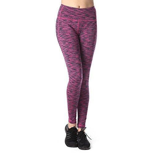 Lapasa Women's Yoga Pants Leggings Plus Size High Waist Tummy Control Workout Running Tights w Hidden Pocket L01