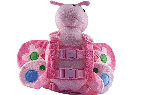 Berhapy 2 in 1 Bee Toddler Safety Harness With Mini Backpack Children's Walking Leash Strap(pink)