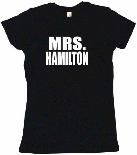 Mrs Hamilton Women's Regular Fit Tee Shirt XXXL-Black