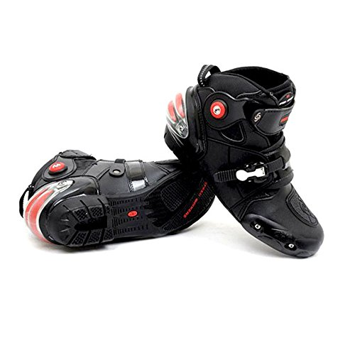 NEW Men's Motorcycle Racing Boots Black US 9.5 EU 43 UK 8.5