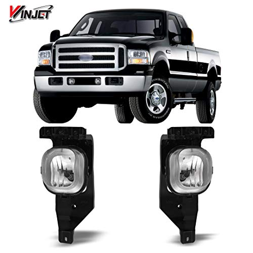 Winjet WJ30-0151-09 OEM Series for Ford [2005-2007 F-250 F-350 Super Duty] [2005 Excursion] Clear Lens Driving Fog Lights