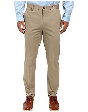 Men's Men's Signature Khaki Slim Tapered Flat Front Timberwolf Pants