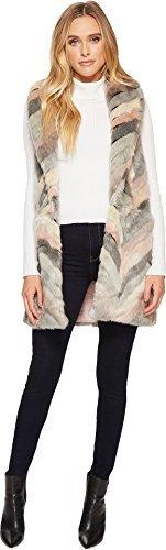 Steve Madden Fur Boots - Steve Madden Women's Chevron Color Block Faux Fur Vest, Blush, Medium/Large
