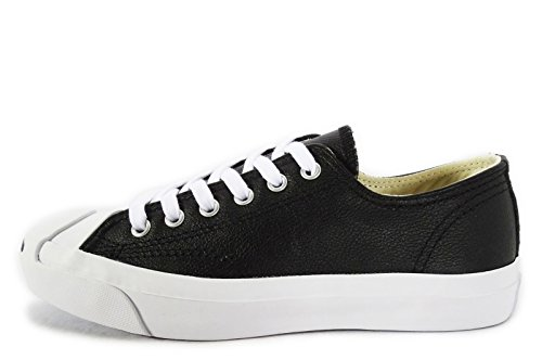 Converse Jack Purcell Synthetic Leather Black White Men/Women Shoes (8.0 Men/9.5 - Purcell Jack Converse Leather