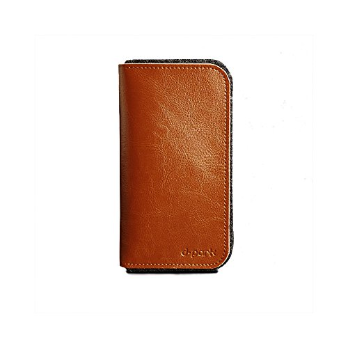 D-Park HTC Desire 820/Dual Sim, 826, Eye Leather & Wool Felt Smartphone Wallet Case in Tan (Quality Genuine Leather w/ Soft Wool Felt Lining; Classic, Business-Friendly Design; Card Slots; Multiple Slip-Style Pockets; Hassle-Free Magnetic Snap-Button Lock)