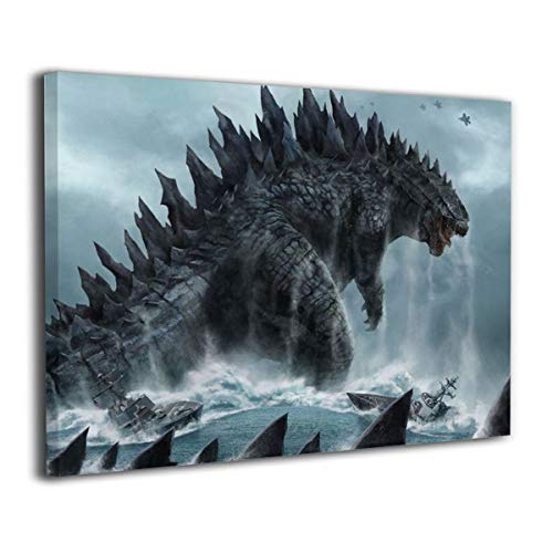 Art Monsters University Halloween Costume (Little Monster Godzilla Sea Framed and Stretched Painting On Canvas Home Decorations Occident Style Art for Boys and Girls Bedroom)