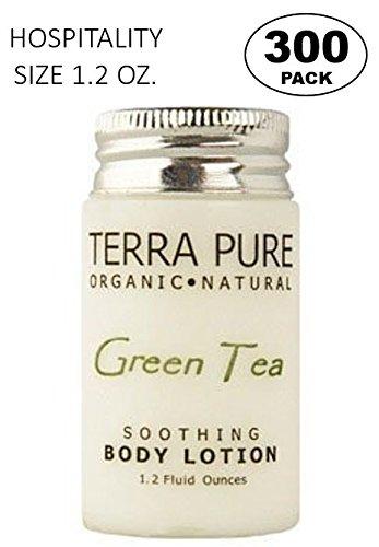 Terra Pure Green Tea Body Lotion, 1.2 oz. In Jam Jar With Organic Honey And Aloe Vera (Case of - Case Green Honey
