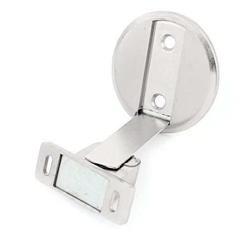 DealMux Household Metal Floor Door Stop Magnetic Holder Stopper Silver Tone
