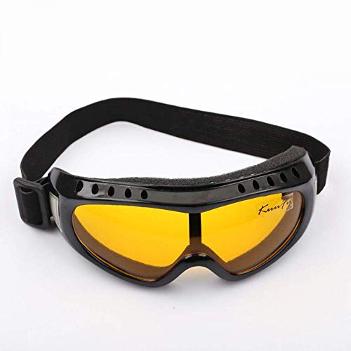 Outdoor Uv400 Windproof Glasses Ski Glasses Dustproof Snow Glasses Men Motocross Riot Control Skiing Goggles (Color : Yellow) ()