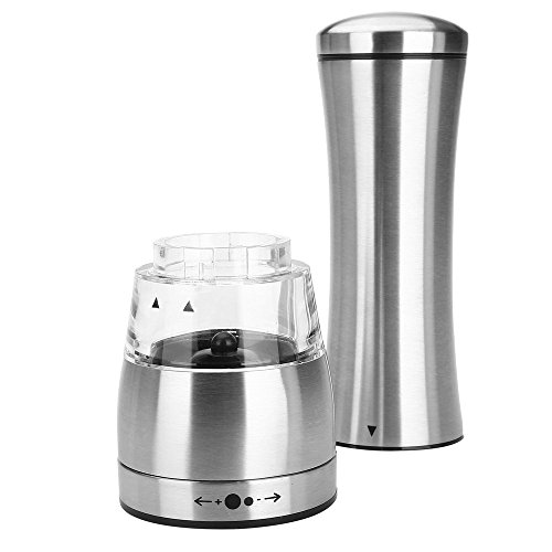 Pepper Grinder BEBEGO Aggreko Combined with Stainless Steel Manual Salt and Pepper Grinder Adjustable Grind Coarseness The New One Is Absolutely Perfect. by BEBEGO (Image #3)