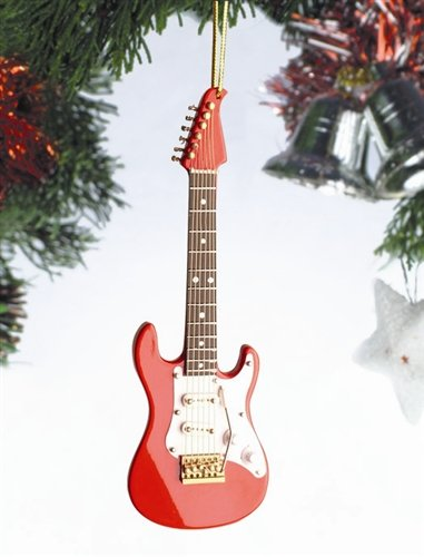 """Image Unavailable. Image not available for. Color: 5"""" Red Bass  Electric Guitar Christmas Tree Ornament - Amazon.com: 5"""