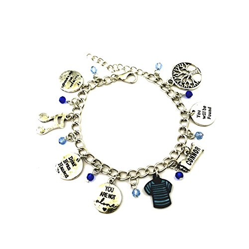 Fraternity Party Halloween Costumes (J&C Family Owned Brand Musical Theme Evan Hansen Charms Lobster Clasp Bracelet w/Gift Box)