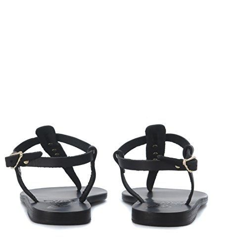 Sandalia Ancient Greek Sandals Lito en piel Negro
