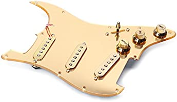 H HILABEE Guitarra Eléctrica Dorada Pickguard Scratchplate + 6R ...